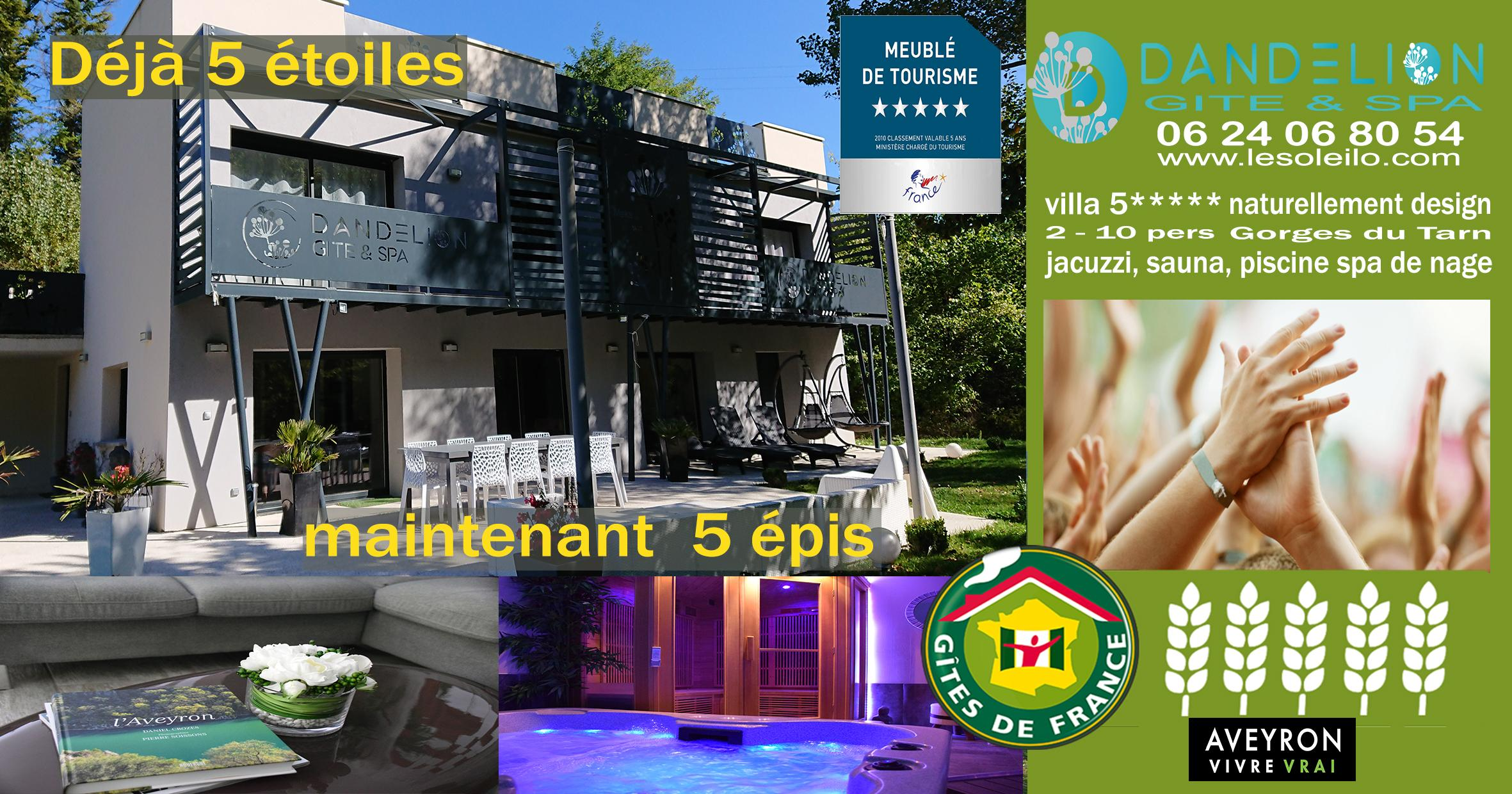 Gite de France grants the 5-ear label to the Dandelion cottage guarantees comfort and quality
