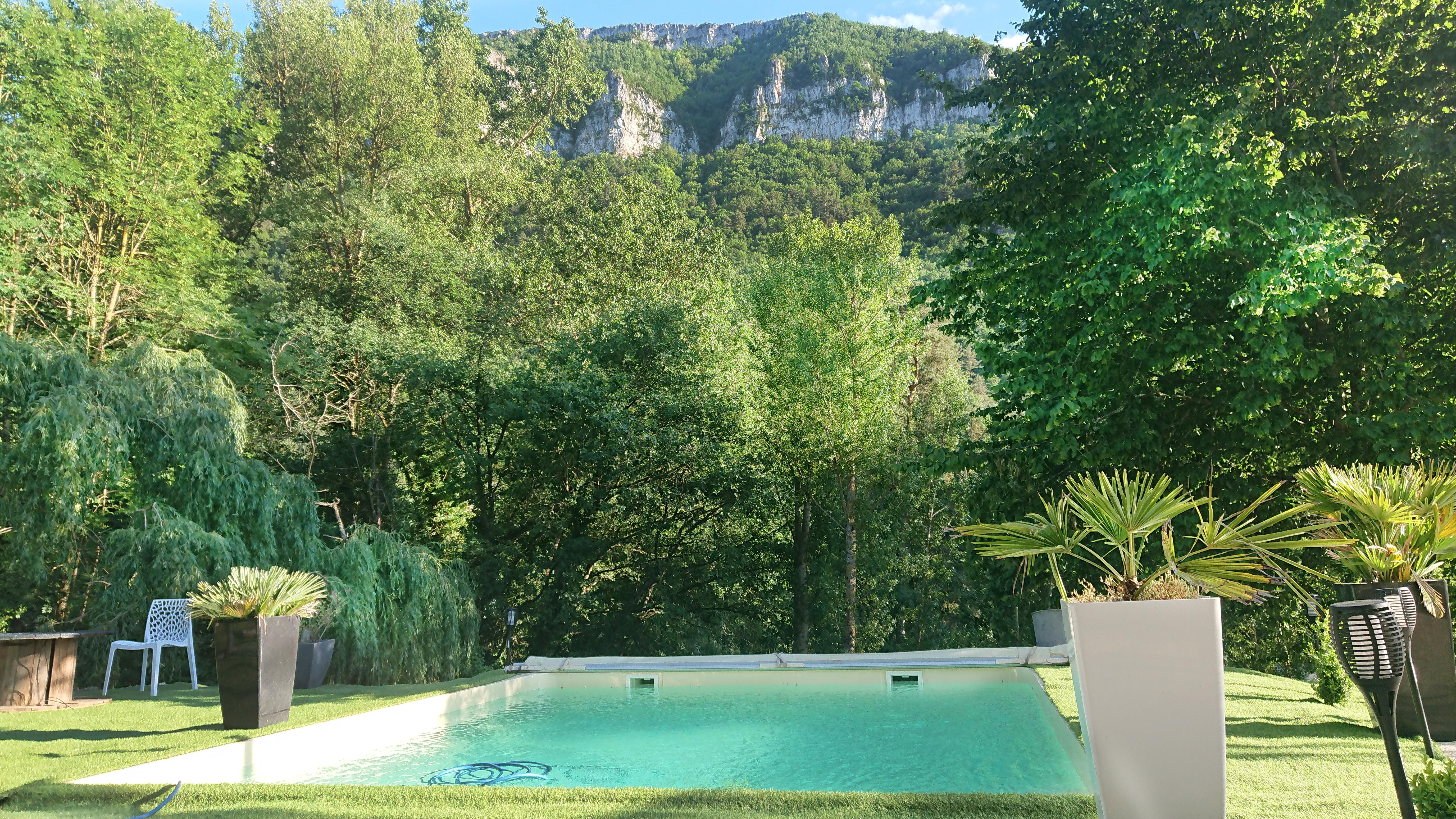 New 2020 at Dandelion gite spa pool with exceptional views of the Tarn Gorges