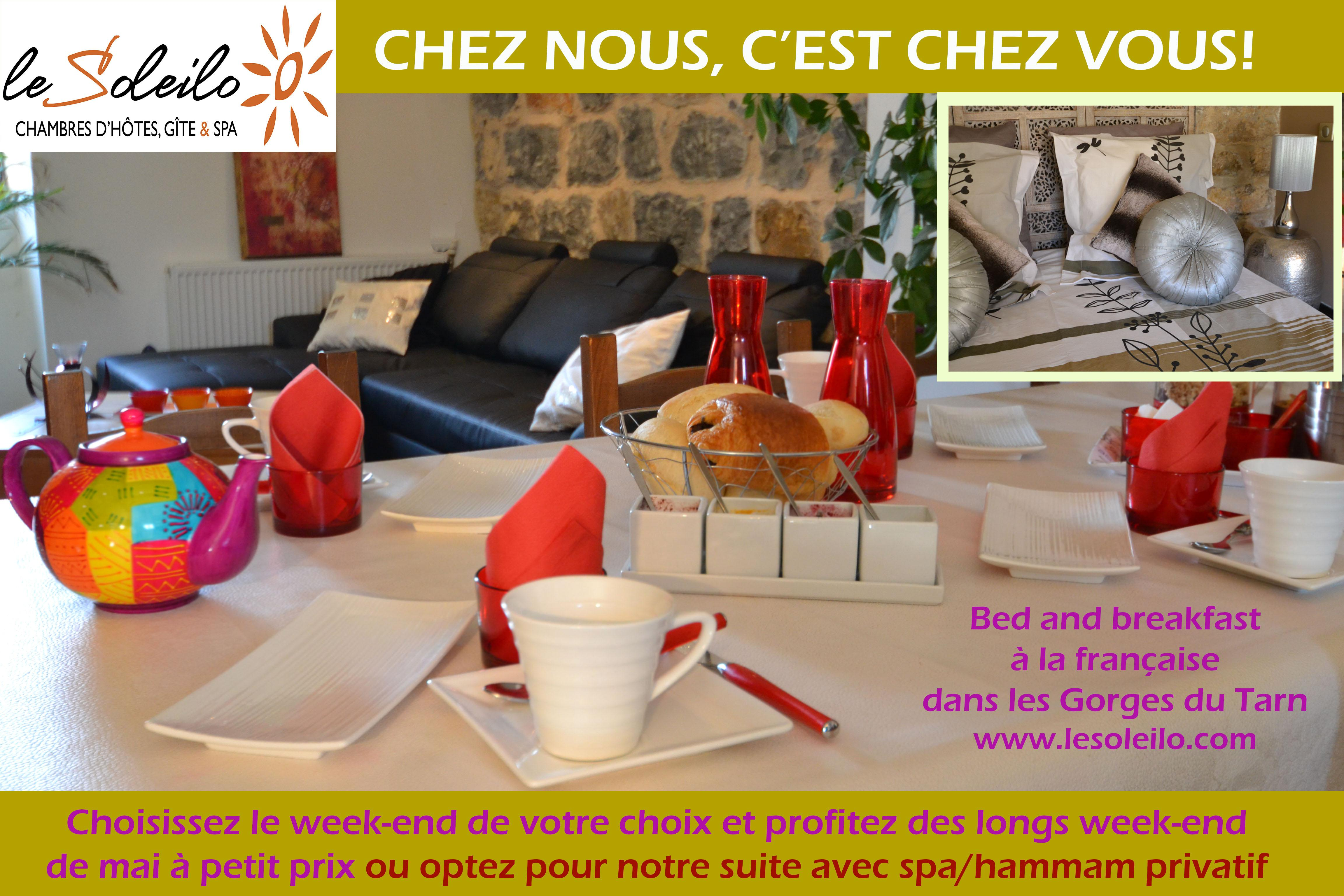May weekend bed and breakfast in French for rent in the heart of