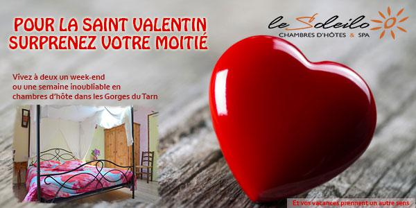 sp cial saint valentin dans les gorges du tarn en chambre d 39 h te pour un week end romantique et. Black Bedroom Furniture Sets. Home Design Ideas